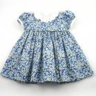 Liberty Blue Petal Wish Baby Dress