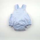 Blue Stripe Seersucker Sunsuit