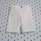 White Slim Fit Shorts