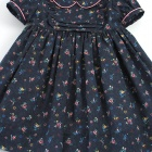 Liberty Navy Chiara Baby Dress