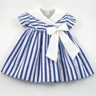 Blue Stripe Nautical Girl's Dress