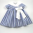 Blue Stripe Nautical Baby Dress