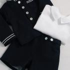 Navy Officer Jacket, Shorts and Shirt Set