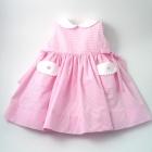 Pink Stripe Seersucker Sleeveless Baby Dress