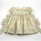 Liberty Pastel Poppy and Daisy Baby Dress