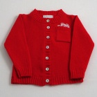 Red Lambswool Cardigan