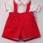 Scarlet Red Nautical Set