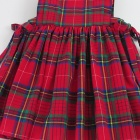 Red Tartan Baby Pinafore Dress