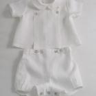 White Linen Baby Set