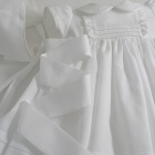White Pique Dress and Bonnet